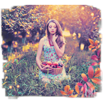Аватар Девушка с корзиной яблок в яблоневом саду