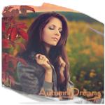 Аватар Красивая девушка на фоне осеннего луга, (Autumn Dreams / Осенние мечты)