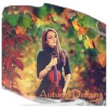 Аватар Девушка со скрипкой в осеннем лесу среди яркой листвы, (Autumn Dreams / Осенние мечты)
