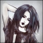 Аватар Темноволосая девушка в черной футболке, by NanFe