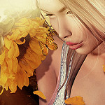 Аватар Девушка с подсолнухом