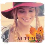 Аватар Улыбающаяся девушка в широкополой шляпе (Autumn / Осень)
