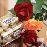 Аватар Розы рядом с коробкой конфет Ferrero Rocher