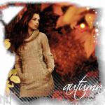 Аватар Девушка в теплом свитере на фоне яркой осенней листвы (Autumn / Осень)