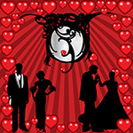 Аватар Две влюбленные пары на фоне сердечек
