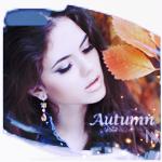 Аватар Девушка на фоне осенних листьев (Autumn / Осень)