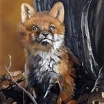 Аватар Лисичка сидит в осеннем лесу, by JW Baker