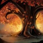 Аватар С дерева падают желтые осенние листья