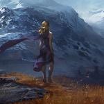 Аватар Девушка стоит на фоне природы