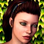 Аватар Девушка-шатенка с серыми глазами