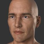 Аватар Лысый парень с серыми глазами