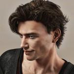 Аватар Парень с темными волосами в профиль