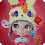 Аватар Девочка в шапочке в виде кролика