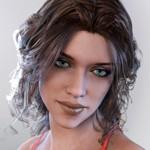 Аватар Шатенка с зелеными глазами