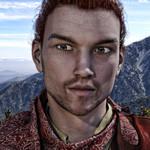 Аватар Парень с серыми глазами на фоне гор