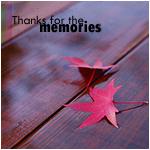 Аватар Два красных листика лежат на деревянном покрытии (thanks for the memories / спасибо за воспоминания)