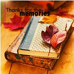 Аватар Пожелтевшие листья лежат на книгах (thanks for the memories / спасибо за воспоминания)
