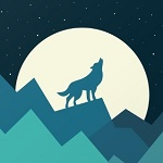Аватар Волк, воющий на луну