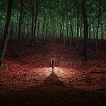 Аватар Девушка стоит в лесу