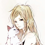 Аватар Светловолосая девушка с кошкой