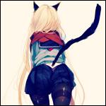 Аватар Неко-девушка в школьной форме