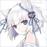 Аватар Неко-девушка с голубыми глазами