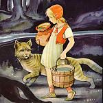 Аватар Девочка с котом идут рядом