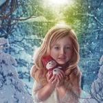 Аватар Девочка со снеговиком в руках
