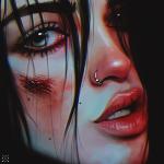 Аватар Девушка с раной на лице, художник Julia Razumova