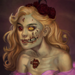 Аватар Девушка - нежить с розами на голове / арт на игру World of Warcraft, by JuneJenssen