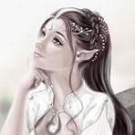 Аватар Красивая эльфийка подпирает голову рукой