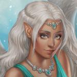 Аватар Девушка - ангел со светлыми волосами и крыльями, by JuneJenssen