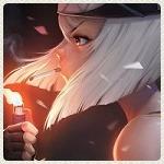 Аватар Девушка с зажигалкой в руке