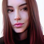 Аватар Девушка с коричневыми волосами и пирсингом в носу, by Julia Razumova