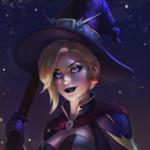 Аватар Светловолосая девушка в костюме ведьмы, by JuneJenssen