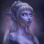 Аватар Эльфийка со светлыми волосами / арт на игру World of Warcraft, by JuneJenssen