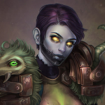 Аватар Девушка - нежить / арт на игру World of Warcraft, by JuneJenssen