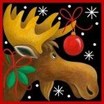 Аватар Рождественский лось, украшенный елочными игрушками, фото by Stephanie Stouffer / Стефани Стоаффер