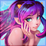 Аватар Девушка с фиолетовыми волосами и рожками на голове, художник Илья Кувшинов