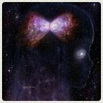 Аватар Космическая девочка с бантом на волосах