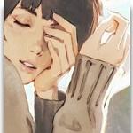 Аватар Девушка с закрытыми глазами держит руку у лица, by Kuvshinov Ilya
