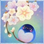 Аватар Птица у весенних цветов