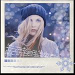 Аватар Девушка в синей вязаной шапке среди бликов-боке