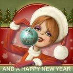 Аватар Девушка в костюме Снегурочки держит в руках новогодний шар (Merry Christmas / And Happy New Year), by Nina de San