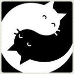 Аватар Черный и белый коты Инь-Янь
