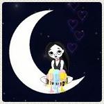 Аватар Девочка сидит на луне