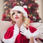 Аватар Девушка в наряде Санта Клауса, by MeganCoffey
