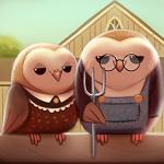 Аватар Две смешные совы сидят рядышком