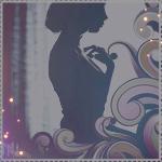 Аватар Силуэт девушки и абстрактный узор