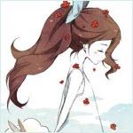 Аватар Девушка стоит боком, опустив голову